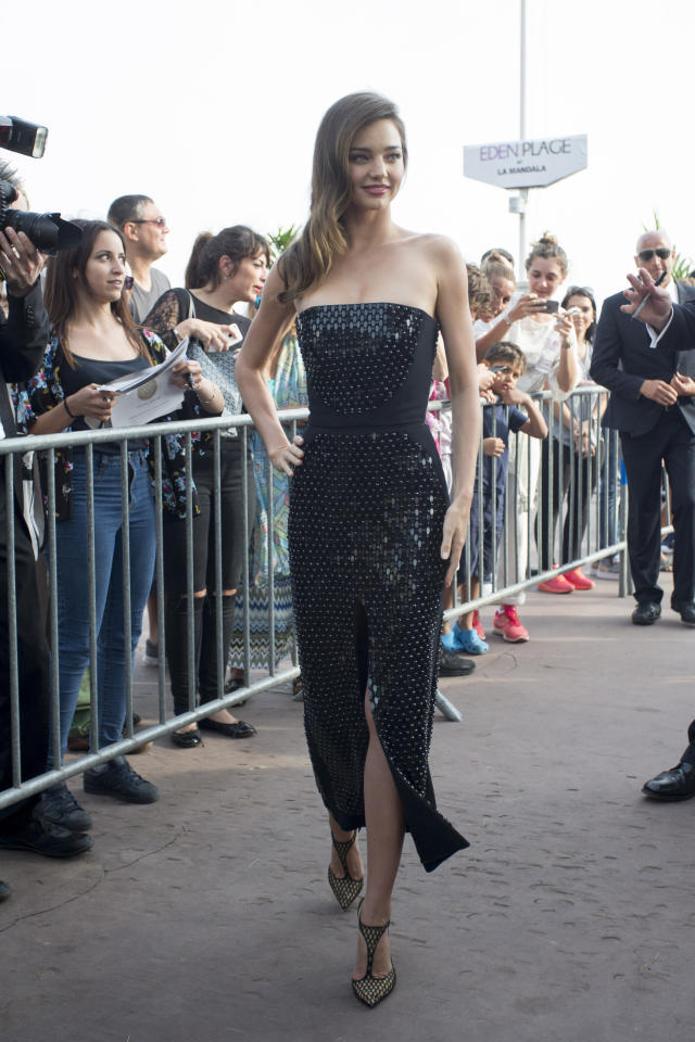<p>The supermodel-turned-beauty mogul looked as stunning as usual in a black embellished two-piece dress by David Koma at the Annual Cannes Film Festival Opening Ceremony.<br /><br /></p>