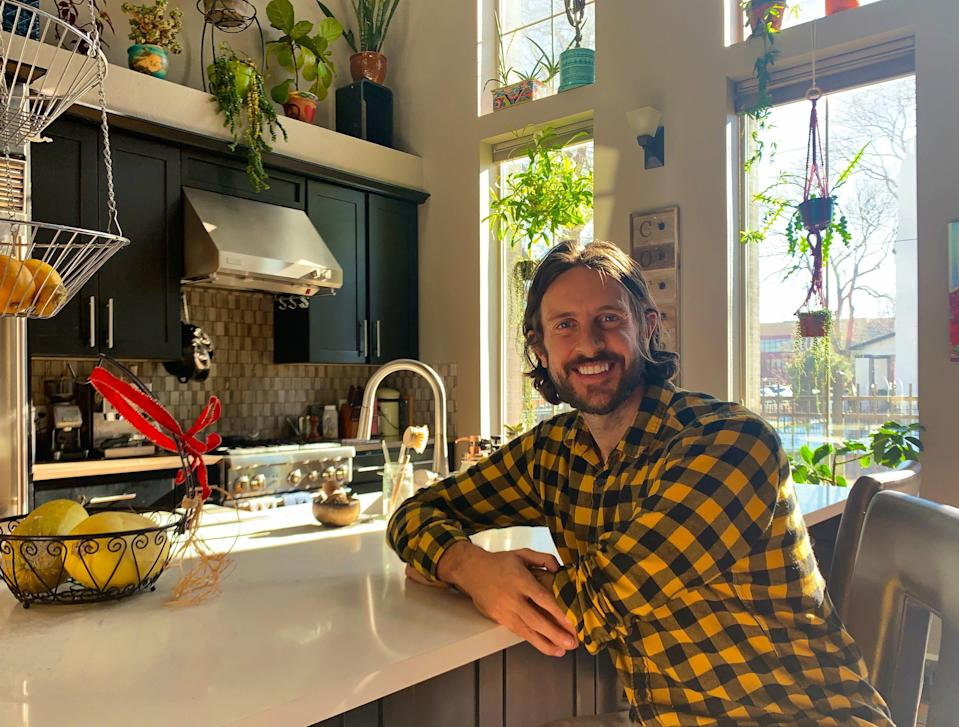 An undated photo of Troy Fenske in the kitchen of his primary home.
