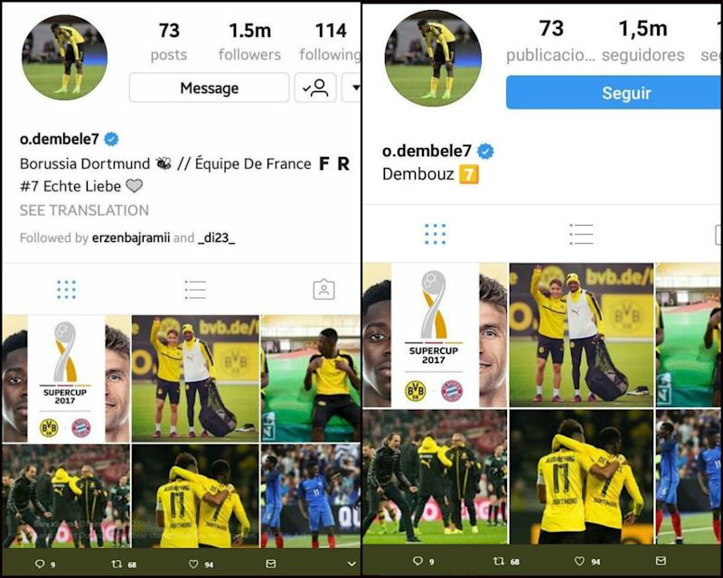 NO GALLERY Ousmane Dembele delets BVB hints on Instagram