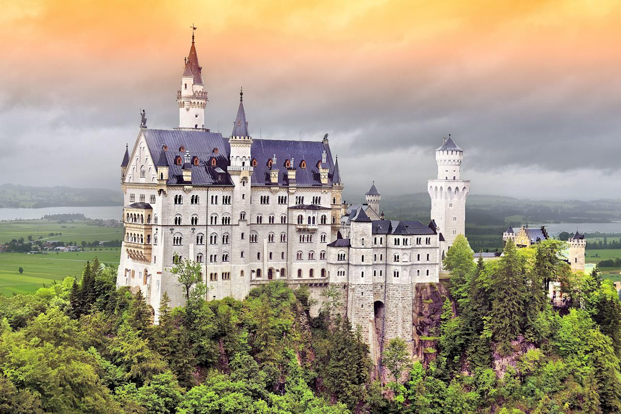 """<a href=""""https://www.cntraveler.com/story/driving-germanys-romantic-road?mbid=synd_yahoo_rss"""" target=""""_blank"""">Neuschwanstein Castle</a> is easily one of the most recognizable castles on the planet—thanks in large part to the fact that it served as inspiration for <a href=""""https://www.cntraveler.com/story/how-to-plan-a-trip-to-disneyland?mbid=synd_yahoo_rss"""">Disneyland's</a> Sleeping Beauty Castle. Originally built at the behest of reclusive King Ludwig II as a private retreat in 1886, the majestic structure boasts a clifftop location and ornate rooms; today, it attracts some 1.4 million visitors every year."""