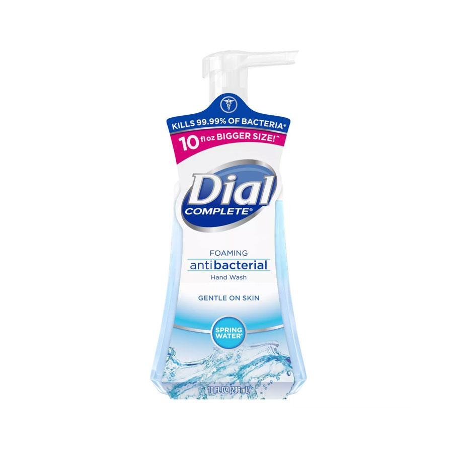 Dial Complete® Spring Water® Foaming Hand Wash, $2.79 for 10 oz.,will leave you with healthy-feeling skin, plus a brisk scent the whole family will love. (Photo: Dial®)