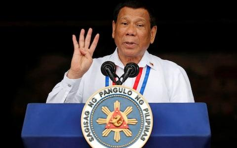Philippine President Rodrigo Duterte has been criticised for is war on drugs - Credit: Erik de Castro/AFP
