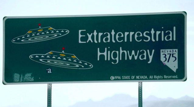 Nevada State Route 375 near Area 51 - the 'Extraterrestrial Highway'.