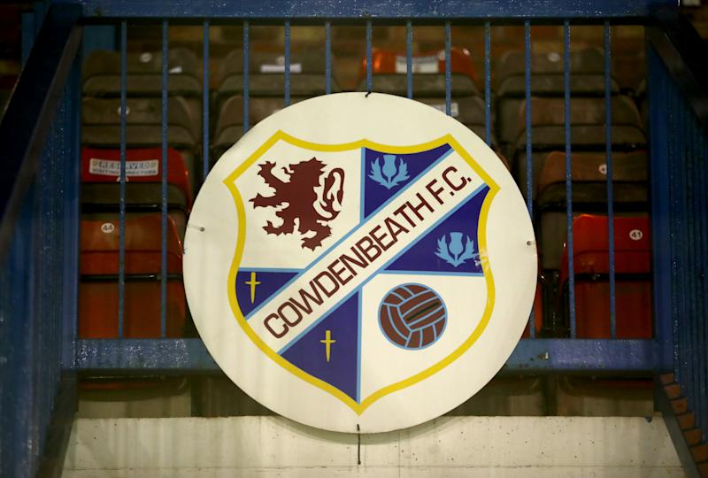 Cowdenbeath FC club badge above the main stand before the William Hill Scottish Cup fourth round match at Central Park, Cowdenbeath. (Photo by Jane Barlow/PA Images via Getty Images)