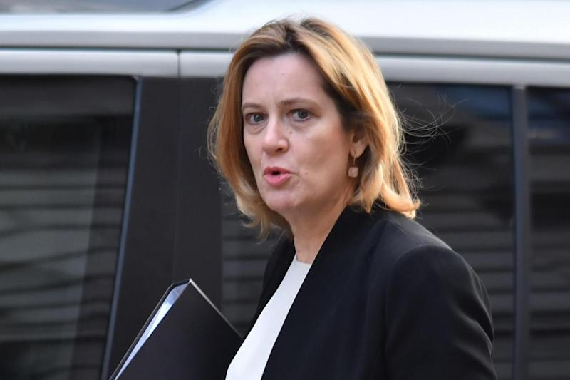 Perplexed: Amber Rudd (Photo by Alberto Pezzali/NurPhoto via Getty Images)
