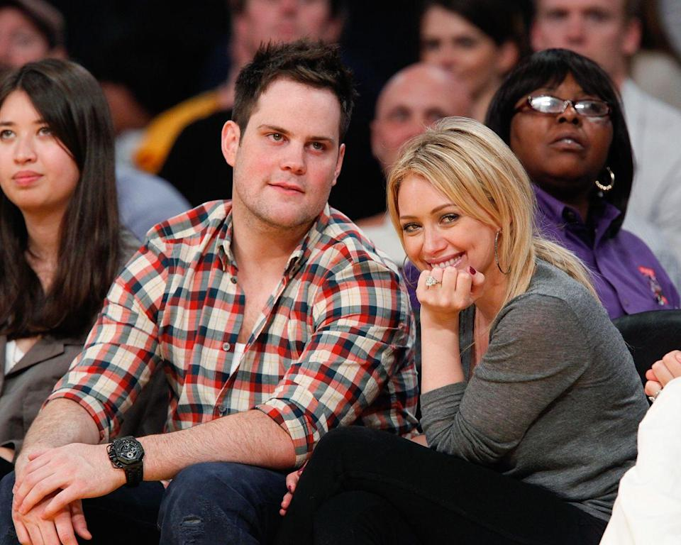 "<p>Hilary Duff started dating professional hockey player Mike Comrie in 2007. The pair <a href=""https://people.com/celebrity/hilary-duff-and-mike-comrie-get-married/"" rel=""nofollow noopener"" target=""_blank"" data-ylk=""slk:married in 2010"" class=""link rapid-noclick-resp"">married in 2010</a> and Hilary <a href=""https://www.hollywoodreporter.com/news/hilary-duff-baby-boy-birth-303412"" rel=""nofollow noopener"" target=""_blank"" data-ylk=""slk:gave birth"" class=""link rapid-noclick-resp"">gave birth</a> to their son, Luca, in 2012. Hilary and Mike didn't work out, and the actress filed for divorce in 2015. Now, she <a href=""https://www.goodhousekeeping.com/life/relationships/a27424587/hilary-duff-husband/"" rel=""nofollow noopener"" target=""_blank"" data-ylk=""slk:co-parents Luca with Mike"" class=""link rapid-noclick-resp"">co-parents Luca with Mike</a> and her new husband, Matthew Koma.</p>"