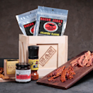 """<p><strong>Man Crates </strong></p><p>mancrates.com</p><p><strong>$59.99</strong></p><p><a href=""""https://go.redirectingat.com?id=74968X1596630&url=https%3A%2F%2Fwww.mancrates.com%2Fstore%2Fproducts%2Fbacon-crate&sref=https%3A%2F%2Fwww.goodhousekeeping.com%2Fholidays%2Fgift-ideas%2Fg399%2Fgifts-for-men%2F"""" rel=""""nofollow noopener"""" target=""""_blank"""" data-ylk=""""slk:Shop Now"""" class=""""link rapid-noclick-resp"""">Shop Now</a></p><p>He isn't an average guy, which means he shouldn't waste his time eating average bacon from the grocery store. Included in this wooden crate, he'll find all the fixins' for flavor-packed bacon, as well as sweet and spicy bacon jerky. </p>"""