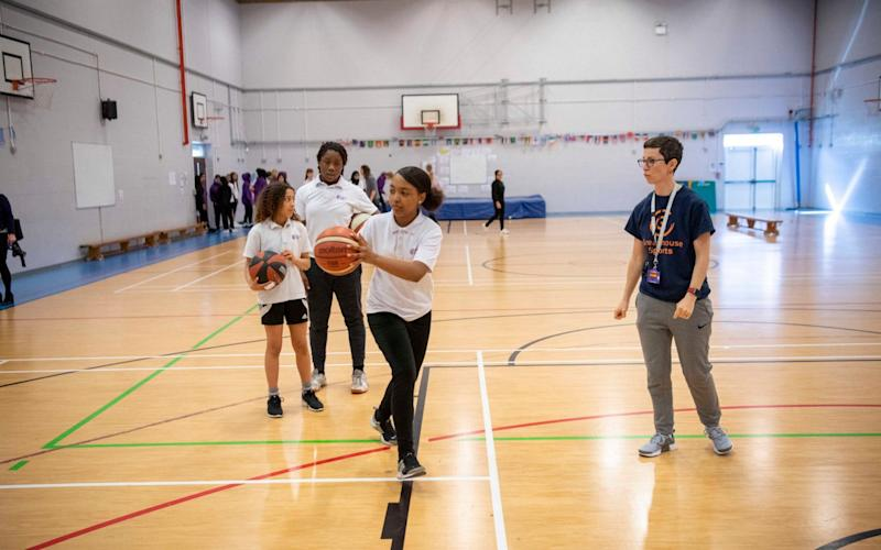 Jeremy Wilson feature on school as part of Girls Inspired campaign looking at school PE for girls - Paul Grover