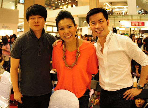Judges of the Singapore leg of tvN K-Pop Star Hunt, Park Jae Hyun, Irene Ang and Eddy Tan. (Photo courtesy of SPRG)