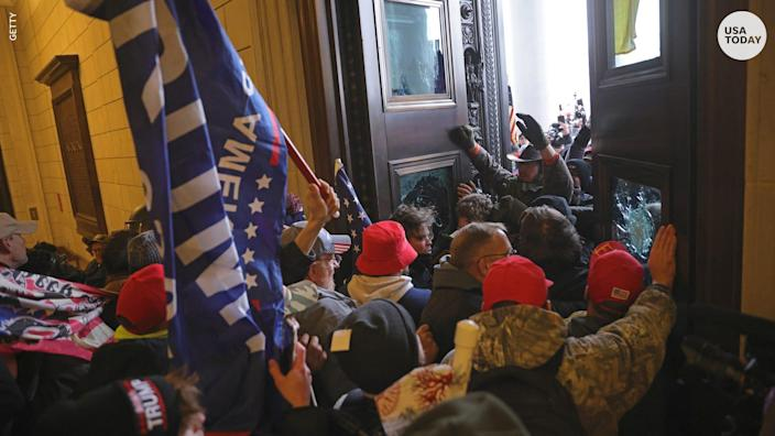 After President Trump urged his supporters  to go to the Capitol, rioters stormed the building.