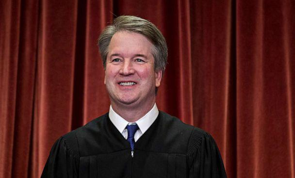 PHOTO:Brett Kavanaugh, associate justice of the U.S. Supreme Court, poses during the formal group photograph in the East Conference Room of the Supreme Court in Washington, D.C., Nov, 30, 2018. (Andrew Harrer/Bloomberg via Getty Images)