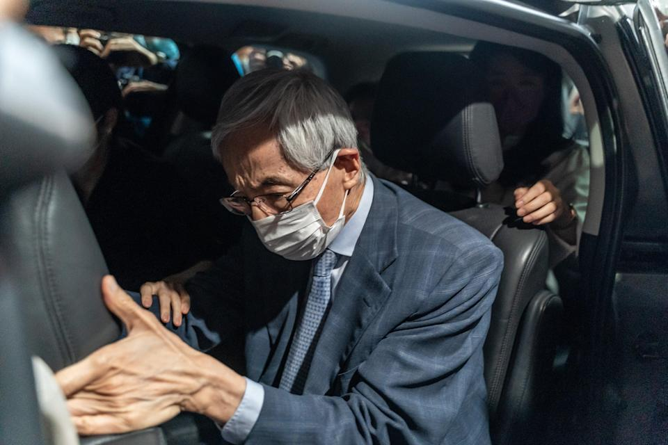 <p>File image: Former lawmaker and barrister Martin Lee leaves West Kowloon court after being given a suspended sentence on 16 April, 2021 in Hong Kong . He was among  the seven prominent democratic figures who were convicted of unauthorised assembly in relation to a peaceful protest in August 2019</p> (Getty Images)