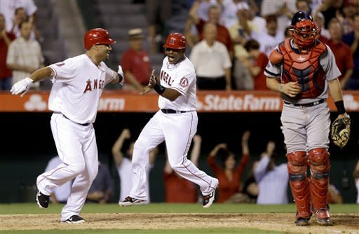 Angels rally in 9th inning to beat Red Sox 6-5