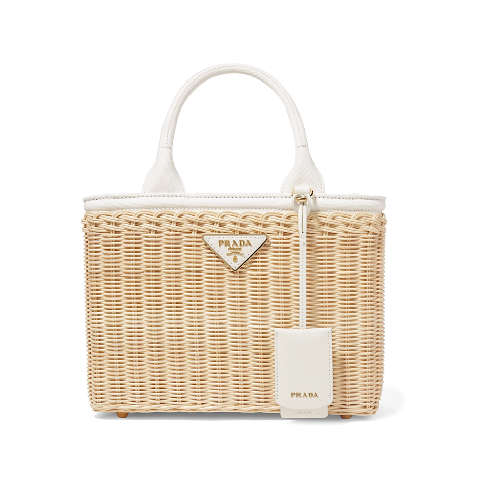 """<p>Make everyday feel like a picnic for Mom by gifting her this structured wicker tote with a removable canvas strap, $1,850.</p><p><em><br></em></p><p><a class=""""body-btn-link"""" href=""""https://fave.co/2IEsUEC"""" target=""""_blank"""">Shop Now </a></p>"""
