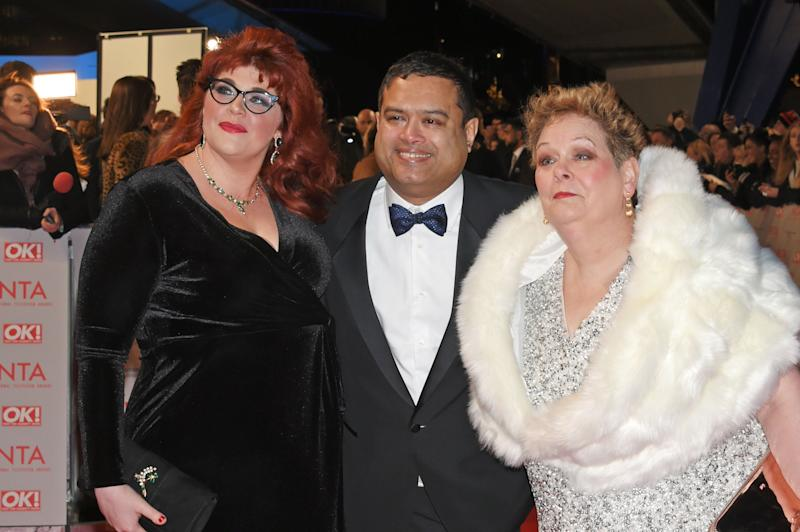 Paul with fellow Chasers Jenny Ryan and Anne Hegerty at the NTAs (Photo: David M. Benett via Getty Images)