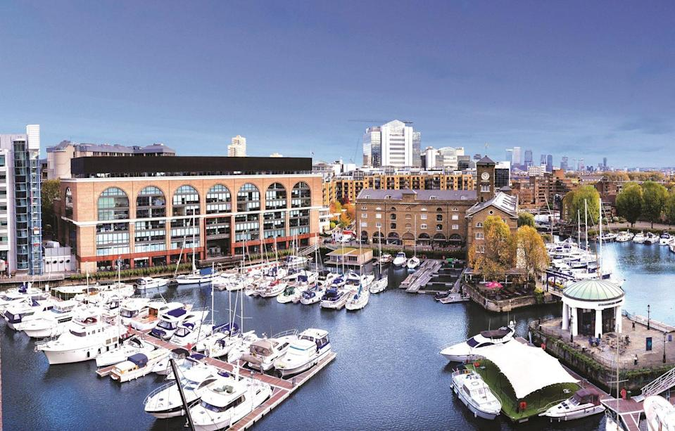 <p>The London-based marina is home to several bars and restaurants offering outside dining and drinking overlooking the water on April 12. </p><p>Head to the beloved The Dickens Inn for a pint in the sun, Bravas for Basque-region tapas and The Melusine for seafood.</p>