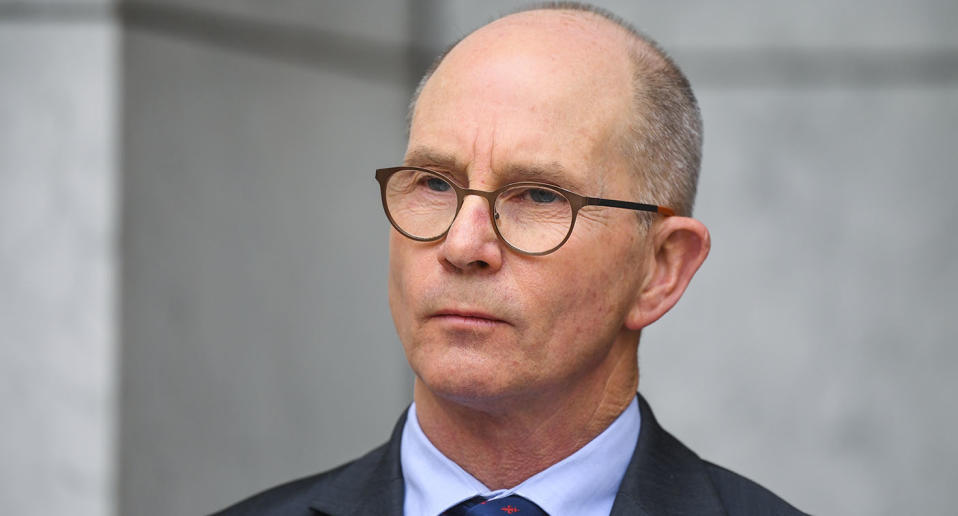 Australia's Acting Chief Medical Officer Paul Kelly speaks to the media during a press conference at Parliament House in Canberra on Friday. Source: AAP