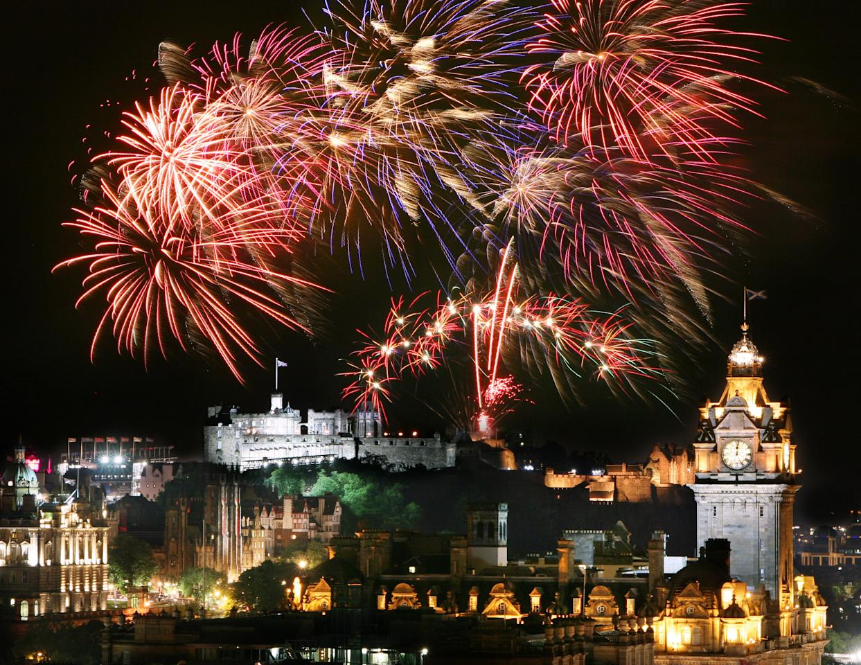 """The <a href=""""https://www.cntraveler.com/destinations/edinburgh?mbid=synd_yahoo_rss"""" target=""""_blank"""">Scottish capital</a> will bid an epic three-day-long farewell to 2019, courtesy of its traditional <a href=""""https://www.edinburghshogmanay.com/"""">Hogmanay celebrations</a>. The event kicks off with a torchlight procession on December 30, and segues into a massive street party, flagship outdoor concert (headlined by Mark Ronson this year), and a midnight fireworks display over <a href=""""https://www.cntraveler.com/activities/edinburgh/edinburgh-castle?mbid=synd_yahoo_rss"""" target=""""_blank"""">Edinburgh Castle</a>. After all that fun, wind down with folk concerts and the <a href=""""https://www.edinburghshogmanay.com/whats-on/first-footers-family-ceilidh"""">first ceilidh</a> of the New Year on January 1."""