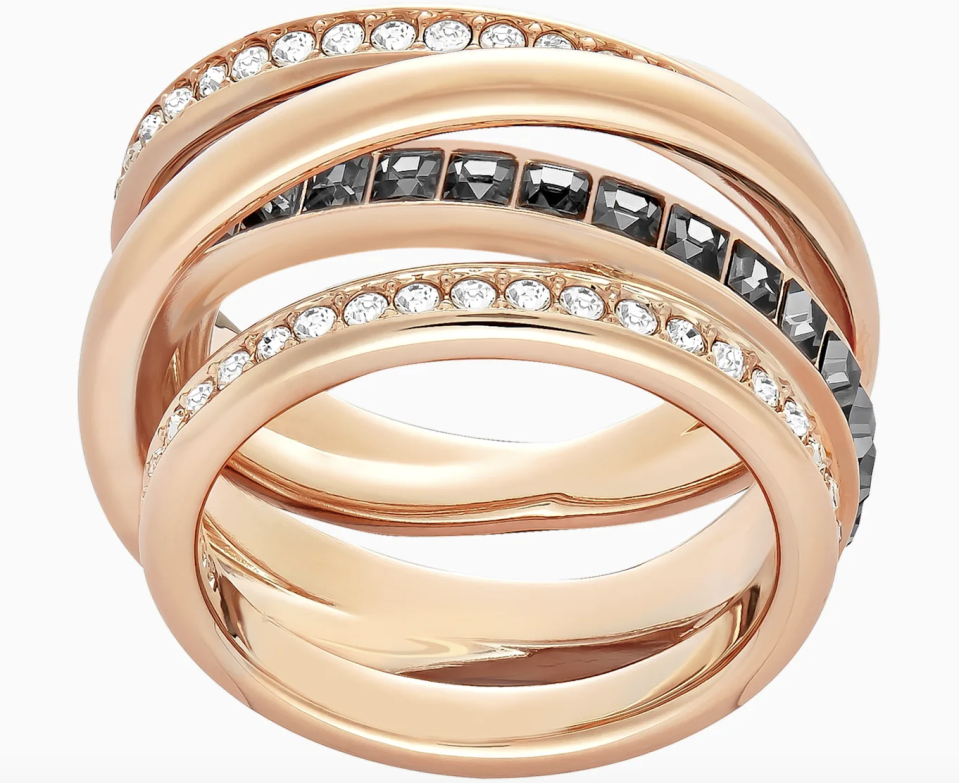 PHOTO: Swarovski. Dynamic Ring, Gray, Rose-Gold Tone Plated