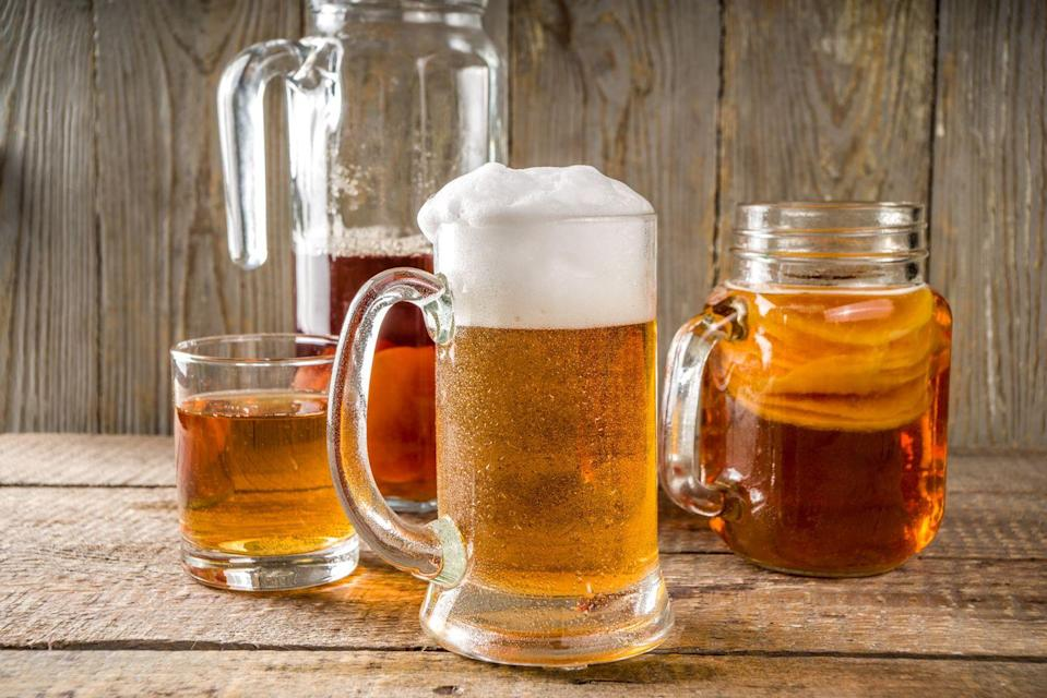 """<p>A fizzy, funky-tasting tipple with 10g of sugar and a similar ABV to a regular beer. """"A recent review found little evidence of kombucha's health benefits in human trials,"""" says Pinho. Why not just have a beer?</p>"""