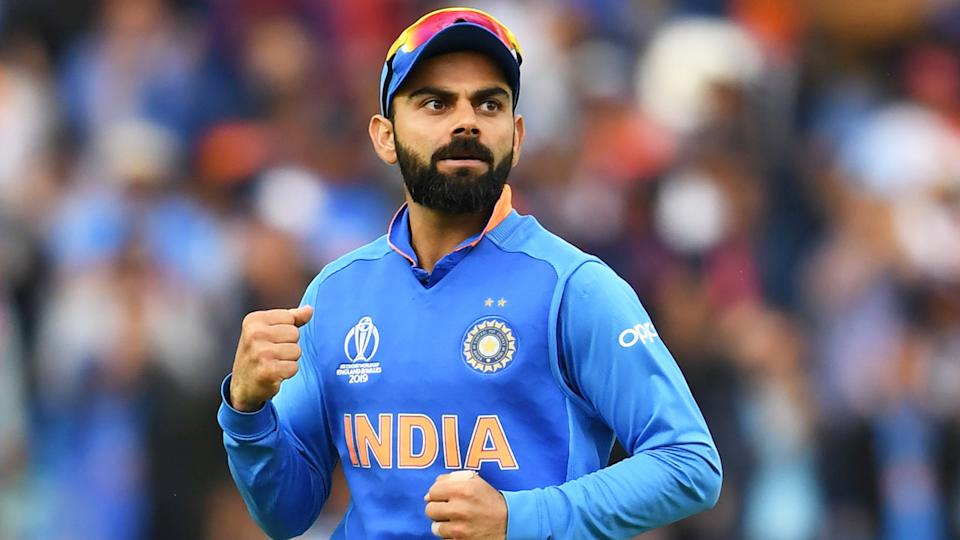 Indian captain Virat Kohli memorably asked Indiasupported not to boo Australian rival Steve Smith during the 2019 Cricket World Cup, after Smith returned from a 12-month ban. (Photo credit should read ADRIAN DENNIS/AFP via Getty Images)