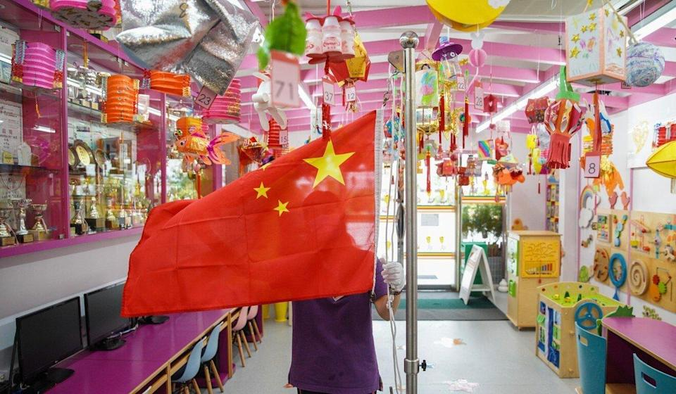 The school now raises the Chinese flag every day, and is planning special ceremonies to mark important dates. Photo: Winson Wong