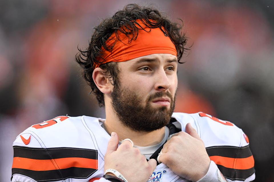 Browns quarterback Baker Mayfield hopes to recapture his rookie form. (Photo by: 2019 Nick Cammett/Diamond Images via Getty Images)
