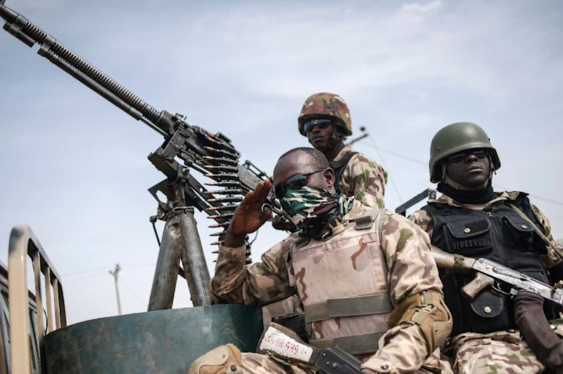 Nigeria soldiers in the northeast regularly complain of insufficient supplies of food and arms in the fight against Boko Haram (AFP Photo/STEFAN HEUNIS)