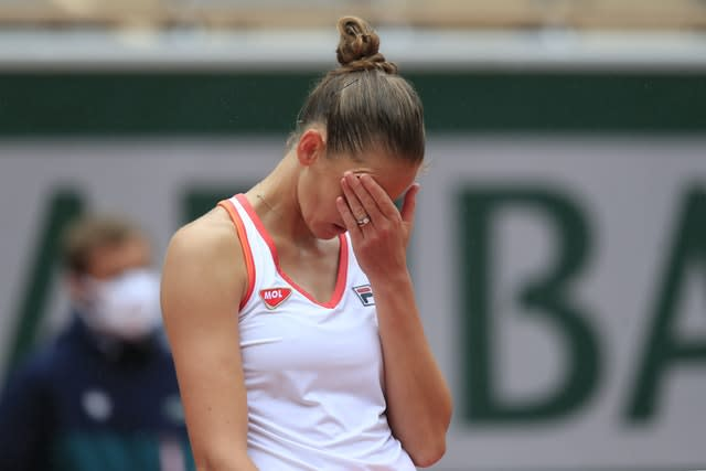Karolina Pliskova was not happy with her level of play against Mayar Sherif