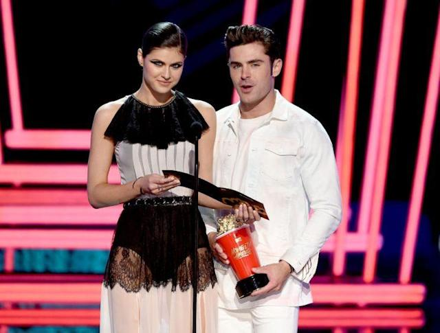 Alexandra Daddario and Zac Efron. (Photo: Getty Images)