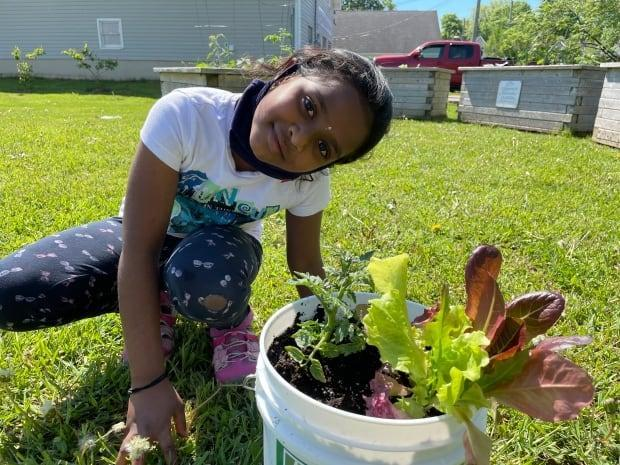 Seven-year-old Sukriti Alchuru says she wants to learn more about gardening and hopes she can attend more gardening events in the future.