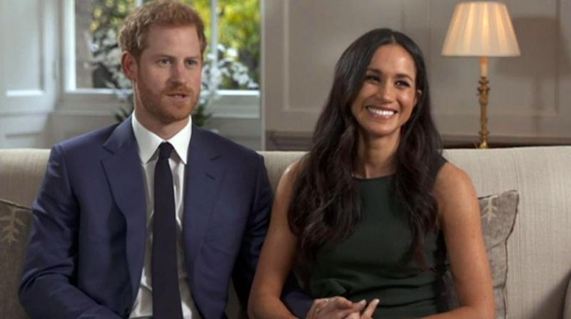 Prince Harry and Meghan Markle talk about their engagement during their first TV interview in London. Source: AAP