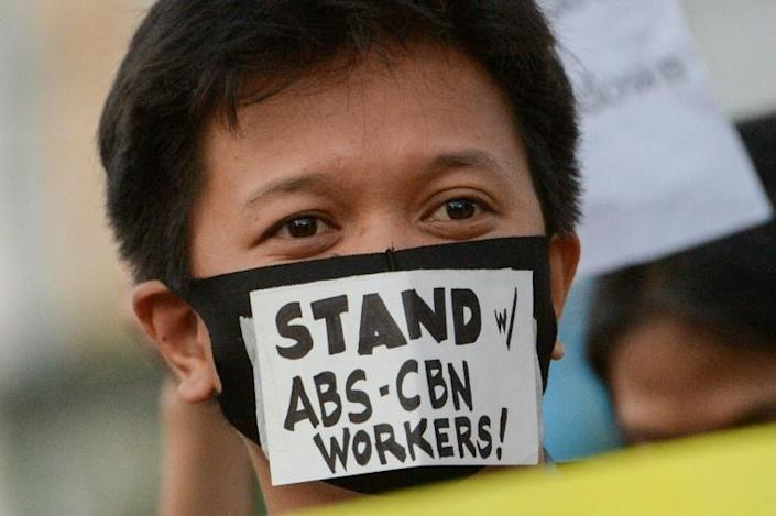 ABS-CBN, the top broadcaster in the Philippines, has been ordered off the air, sparking fears about press freedom (AFP Photo/Ted ALJIBE)