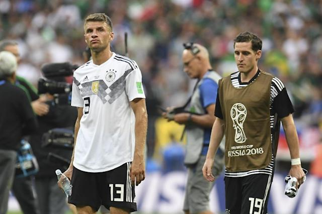 Germany face an uphill task at the World Cup after defeat by Mexico (AFP Photo/Patrik STOLLARZ)