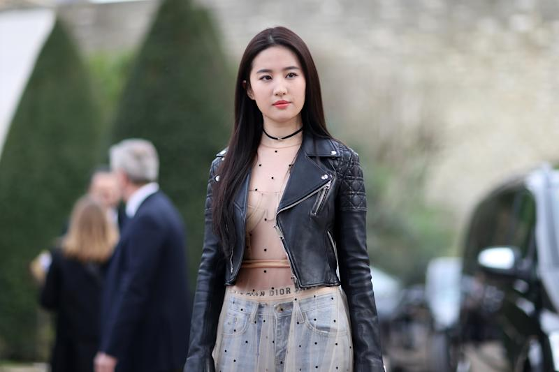 Actress Liu Yifei, who stars in the upcoming Mulan live-action remake, is catching social media heat for a political post on social media. (Photo: Getty Images)