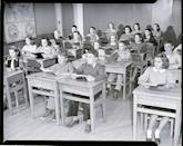 <p>Eighth grade students pay attention at a school in Montpelier, Vermont. </p>