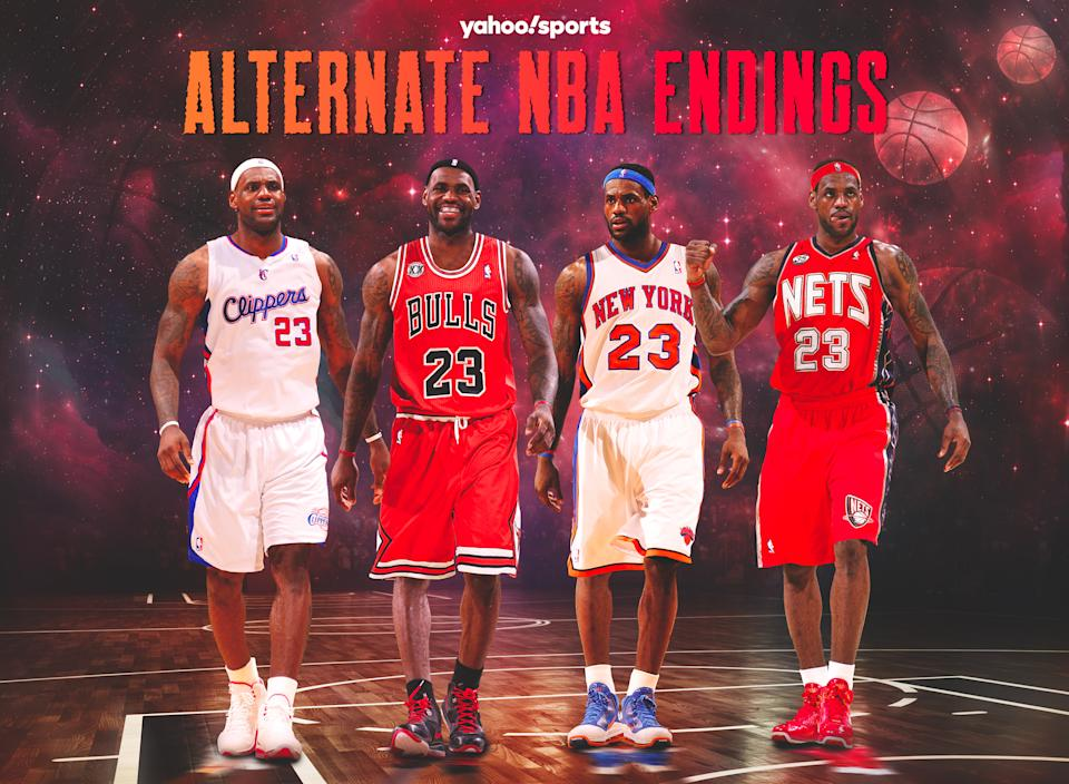 LeBron James met with four other teams besides the Cavaliers and Heat in 2010 free agency. (Yahoo Sports graphic)