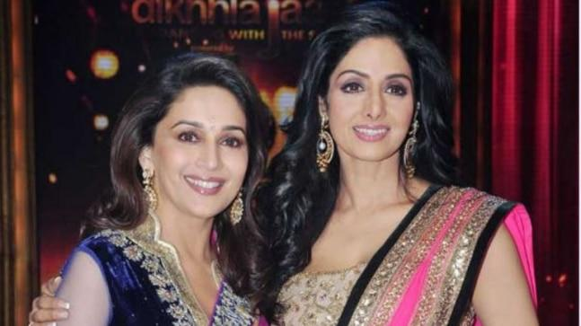 Madhuri Dixit, who has stepped into the shoes of Sridevi for Karan Johar's Kalank, opened up on her last meeting with the versatile actress.