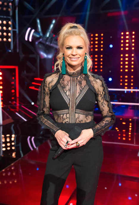 Sonia Kruger in a see through top on The Voice