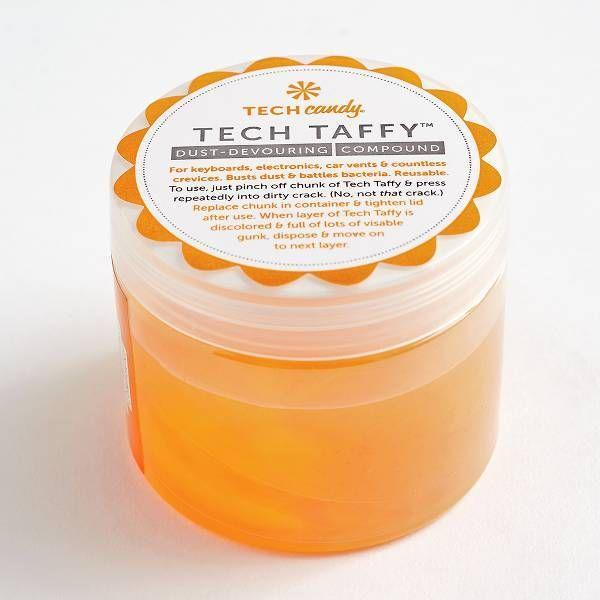 "<p>Use bright sticky Tech Taffy to clean pretty much any surface — from keyboards to computer screens. All you have to do is pinch off a chunk and press it onto the area you want to clean!</p> <br> <br> <strong>Tech Candy</strong> Tech Taffy, $12.95, available at <a href=""https://www.papersource.com/gifts/tech-taffy-10006848.html"" rel=""nofollow noopener"" target=""_blank"" data-ylk=""slk:Paper Source"" class=""link rapid-noclick-resp"">Paper Source</a>"