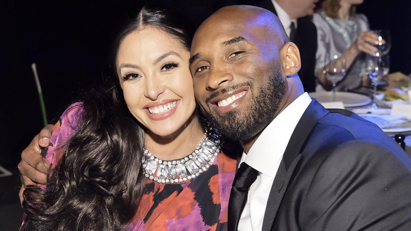 Vanessa Bryant, left, posted a heartfelt Valentine's Day message to her late husband Kobe on Instagram. (Photo by Stefanie Keenan/Getty Images for Baby2Baby)