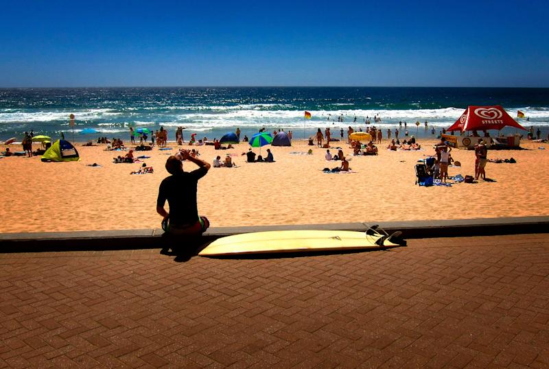 Manly Beach, Sydney on a hot summer's January day. (Photo: REUTERS)