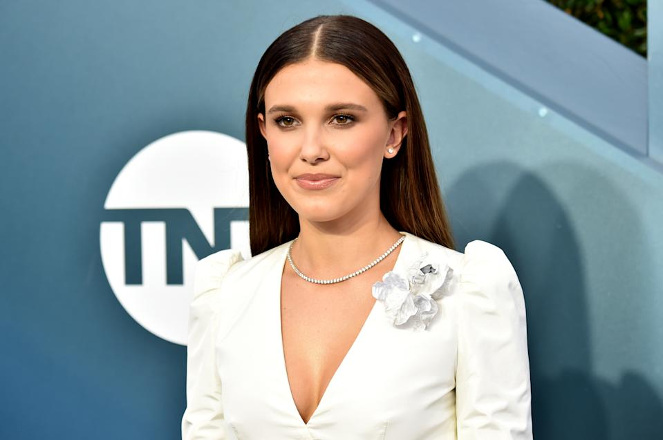 LOS ANGELES, CALIFORNIA - JANUARY 19: Millie Bobby Brown attends the 26th Annual Screen ActorsGuild Awards at The Shrine Auditorium on January 19, 2020 in Los Angeles, California. (Photo by Jeff Kravitz/FilmMagic)