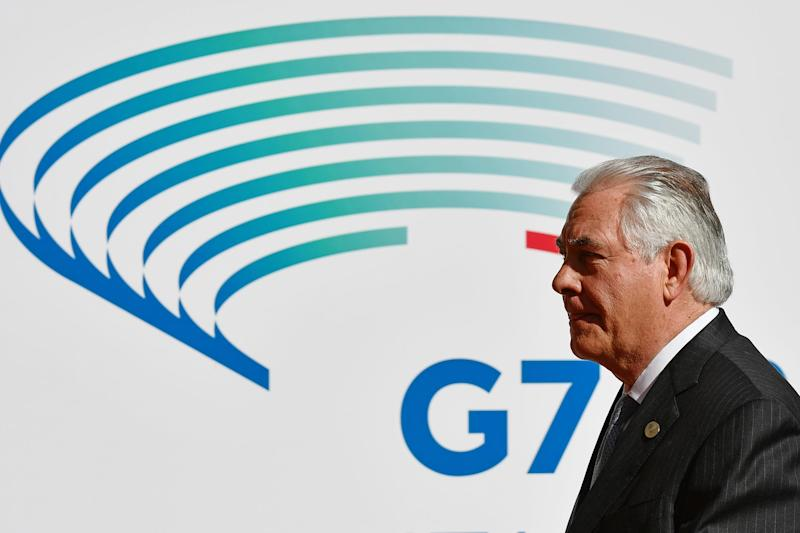 US Secretary of State Rex Tillerson is being blamed for the Group of Seven not being able to sign a joint statement regarding the fight against climate change