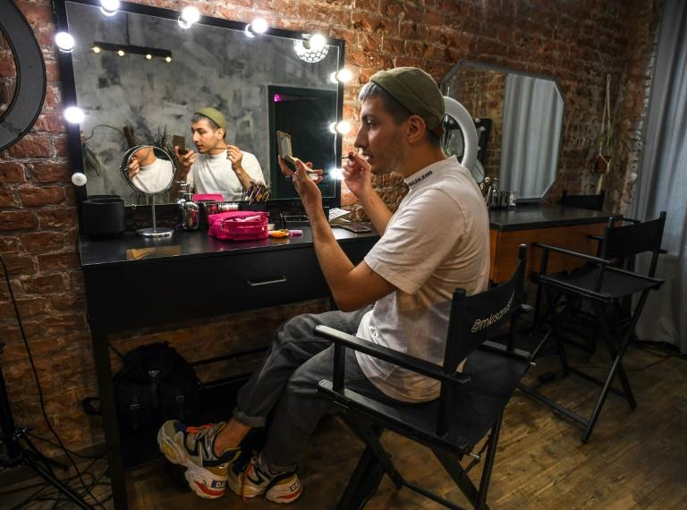 """""""My work is to show a wide audience that makeup isn't about looking like a brightly painted escort -- it's about looking the way you want and showing that you have a choice, whatever you do in life,"""" Gevorg says"""