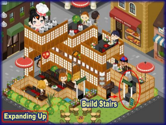 World Chef build stairs expanding up