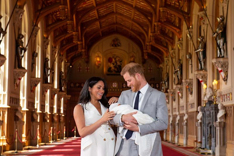 Harry and Meghan with Archie at Windsor Castle (Getty Images)