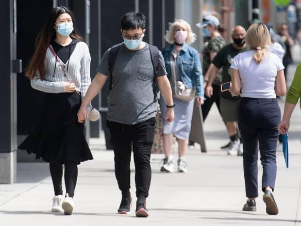 Major indicators continue to suggest that the fourth wave of the COVID-19 pandemic is receding in Ontario. (Graham Hughes/The Canadian Press - image credit)