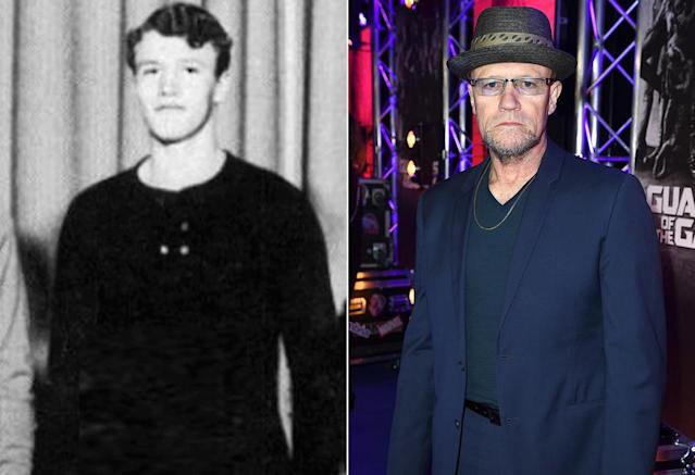 <p>Michael Rooker (Yondu) cuts a stout figure in this freshman-year photo from Wells High School in Chicago (Photo: Seth Poppel/Yearbook Library/Getty Images) </p>