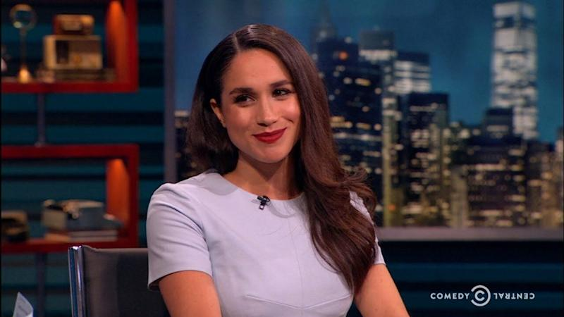 Meghan Markle spoke openly about the President back in 2016. Photo: The Nightly Show